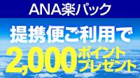 【ANA楽パック】ANA提携便ご利用でポイントプレゼントキャンペーン