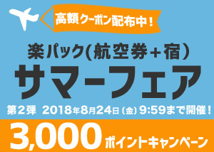 3,000ポイントキャンペーン!