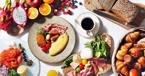 厳選素材を用いた種類豊富な人気の朝食ブッフェ