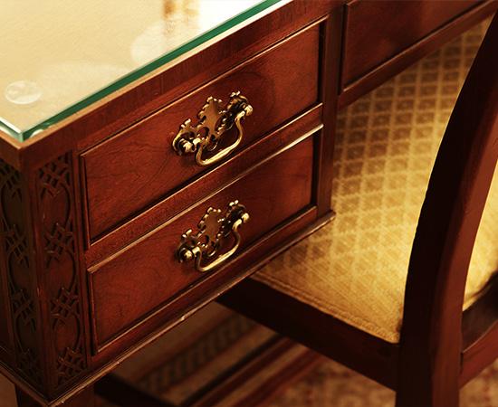 家具や調度のほとんどは開業以来のもの。最高のコンディションを保ち続けている。