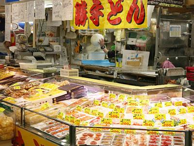 釧路和商市場 釧路の台所