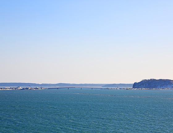 厚岸湾の景色