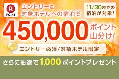 45万ポイント山分けキャンペーン