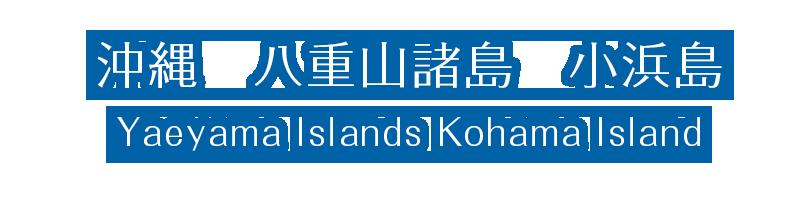 沖縄 八重山諸島 小浜島