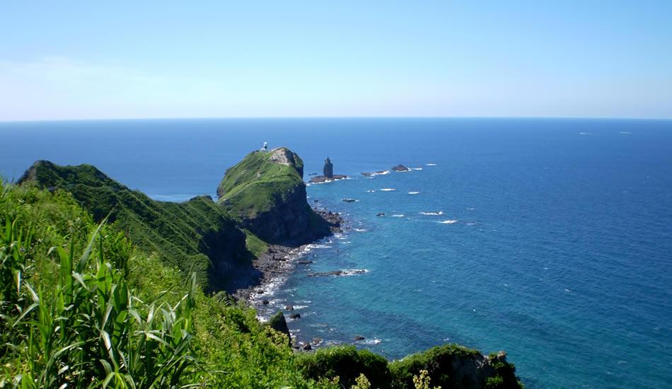 青の北海道を体感「神威岬」