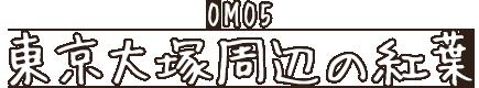 OMO5 東京大塚周辺の紅葉