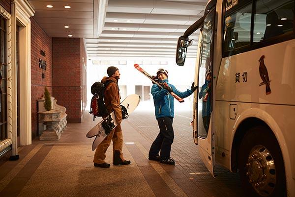宿泊者無料送迎バスの運行スタート!