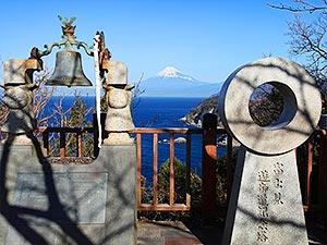 恋人岬の富士山