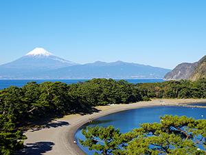御浜崎の富士山