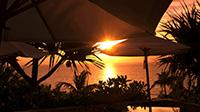 夕陽と絶景に抱かれる