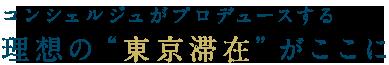 """コンシェルジュがプロデュースする 理想の""""東京滞在""""がここに"""