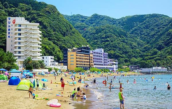 海水浴に便利なホテルもたくさんあります!