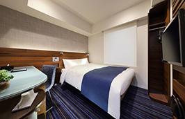 居心地良い客室にはダブルベッドを採用