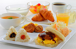 こだわりの美味しい朝食(無料)