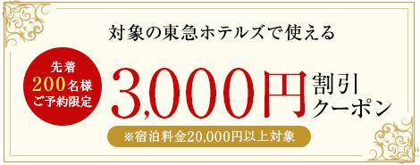 3,000 円割引クーポン
