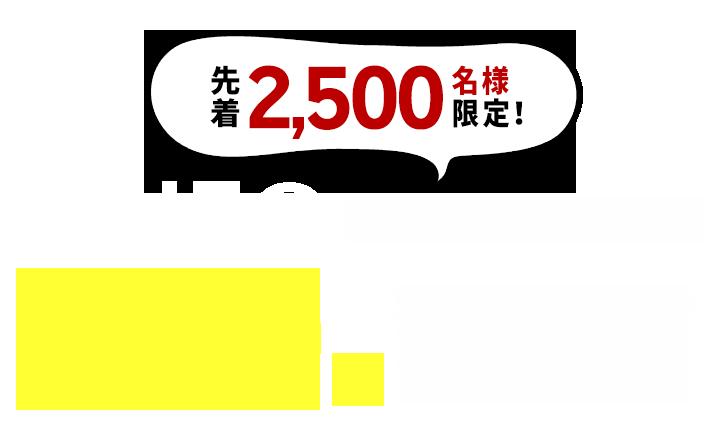 先着2,500名様限定!LINE@新規友だち追加で500円割引クーポンプレゼント!