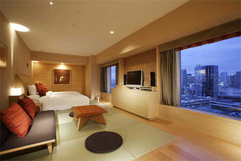 リーガロイヤルホテルの客室の写真
