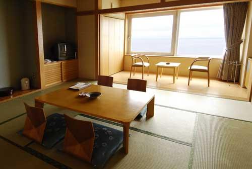 和室(オーシャンビュー♪眼前に広がるオホーツク海)