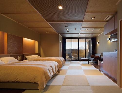 天然温泉露天風呂全室完備 満天の宿