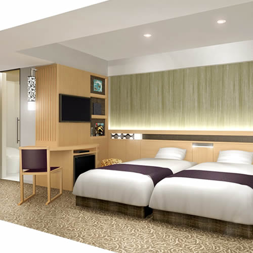 アーバンホテル京都二条プレミアムの客室の写真