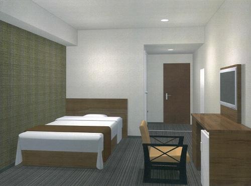 ホテル スーパー泊の客室の写真