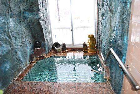 仙人と天女の露天風呂 昭和レトロなスパホテル 高砂温泉 画像