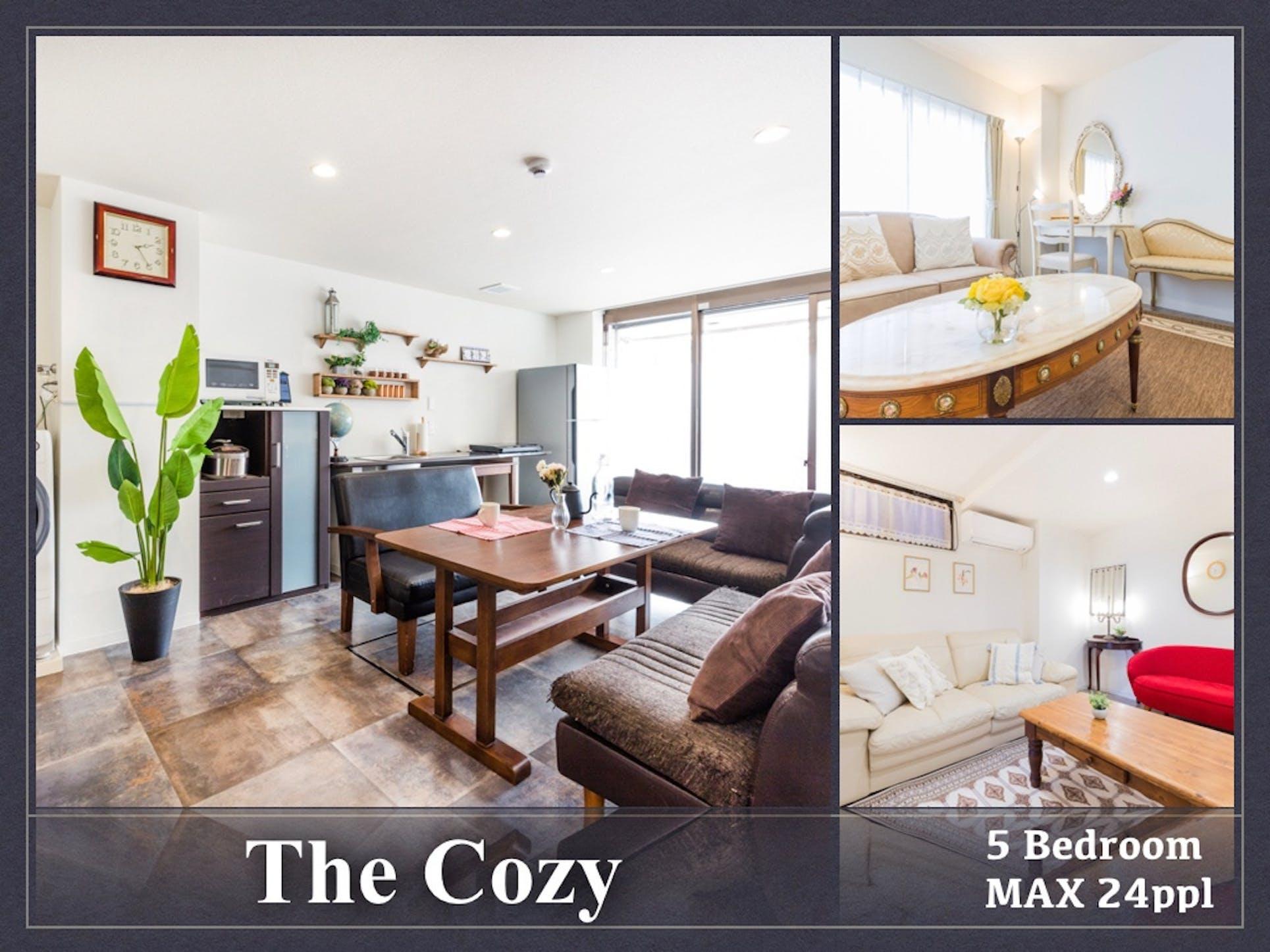 The Cozy/最大24人/5寝室/高速WiFi/無料自転車/無【Vacation STAY提供】