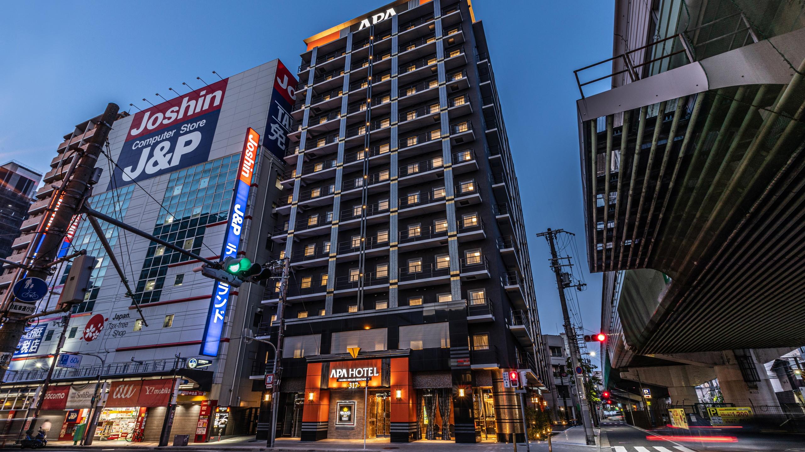 アパホテル<なんば南 恵美須町駅>(全室禁煙)2020年4月28日開業 外観写真