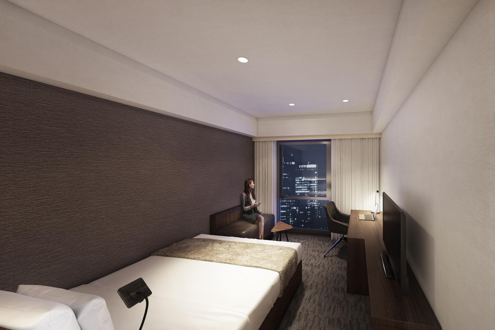 ダイワロイネットホテル福山駅前(2021年4月15日グランドオープン)の部屋画像