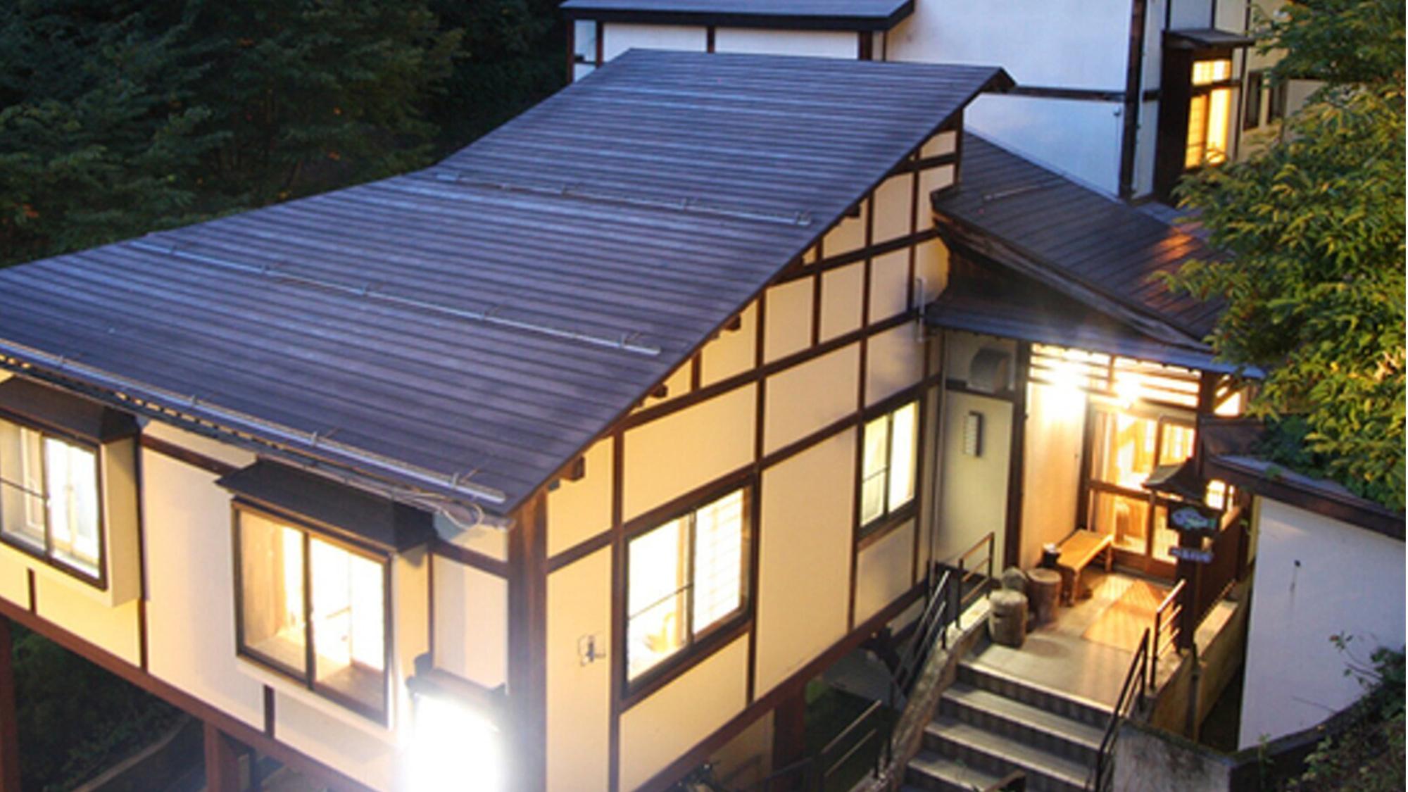 野沢温泉で川魚や山里、信州サーモンなどの名物が楽しめる宿
