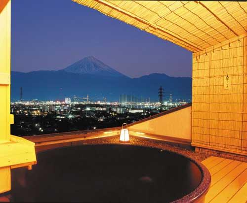甲府の夜景を独占する温泉 11種類の風呂 ホテル神の湯温泉の部屋画像