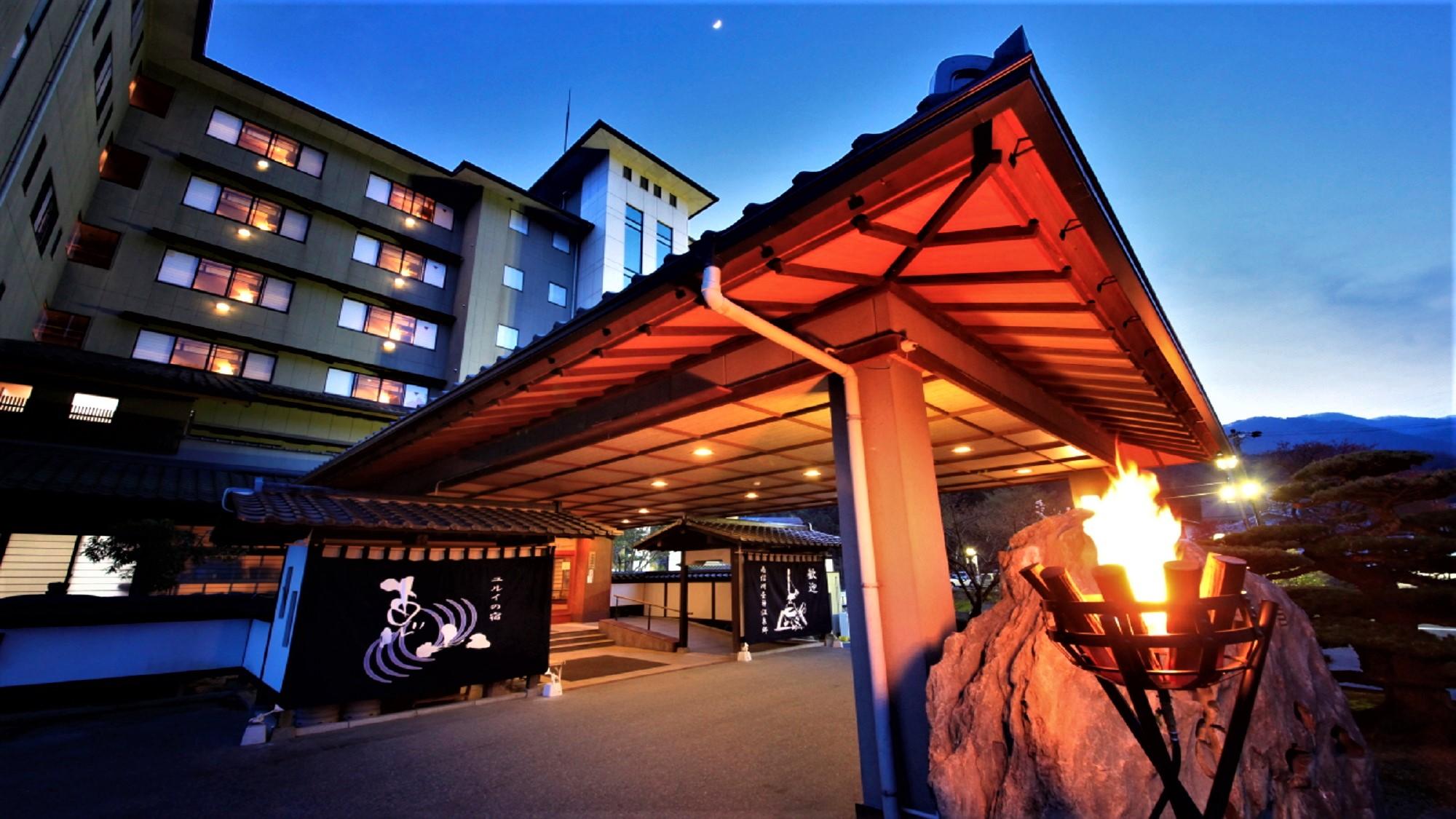 美肌の湯が堪能できる昼神温泉への夫婦旅におすすめの宿が知りたいです!