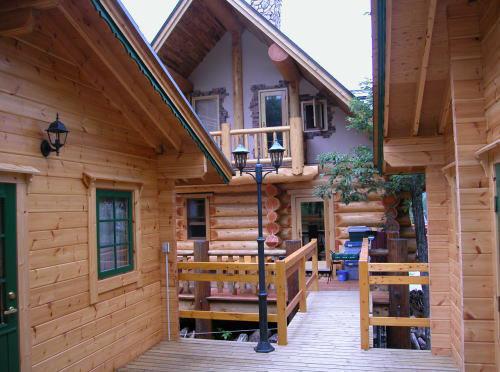 ログの宿 風地原小屋の外観