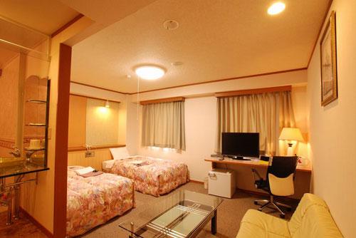 ちのステーションホテルの客室の写真