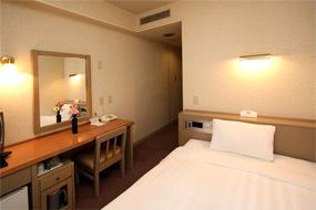 ホテルウィングインターナショナル日立の客室の写真