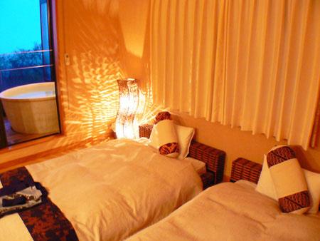 伊豆高原温泉 全室客室露天風呂付 小さなアジアン宿 rakuyado はなはな 画像