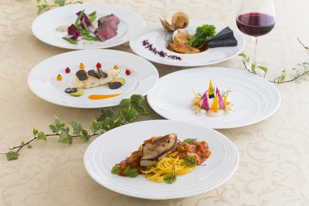 【ディナー付】イタリアンレストラン満喫コースプラン(2食付き)