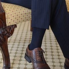 【ビジネス応援】お洒落なビジネスマンに!ide hommeの紳士靴下付