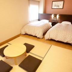 【ファミリープラン】12時チェックアウト無料!布団を敷いて快適ゆったり和洋室