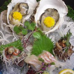 【夏懐石「海」】★岩牡蠣と採れたての海の幸の盛合せ★【山陰海岸ジオパーク】