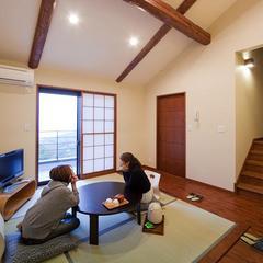 2階【ヒノキ露天風呂付】専用テラス付和洋室(14畳・ダブル)