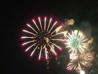 諏訪湖の花火大会を見てからチェックイン