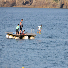 <平日6/15までの早期予約でアワビお造り特典付!>美しい佐津海岸で海水浴!お子様には花火プレ付♪