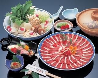 【オールシーズン】3種類から選べる鍋プラン♪鴨鍋・ボタン鍋・寄せ鍋