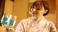 【記念日やカップルに】《4特典付》露付客室deティファニーブルーワイン&花風呂&ケーキ付【夕食編】