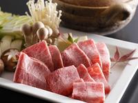 欲張りな方《和牛ステーキ》&《ミスジしゃぶしゃぶ》&《タン治部煮》KAKIMOTOYA肉会席:部屋食