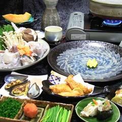 【とらふぐ】フルコース+日間賀島名産の≪タコの丸茹で≫が付きました♪