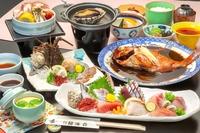 【伊勢海老+鮑付き】 金目鯛の煮付け1人1匹に地場産の伊勢海老と鮑が付いたグルメプラン!