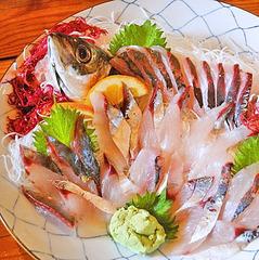 【季節のブランド海鮮皿付き】3名様以上限定 関アジ・関サバ・城下カレイのシーズンズチョイスプラン