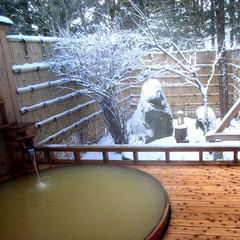 【冬季限定】貸切露天風呂が無料で入り放題!秋田名物ハタハタ料理プラン